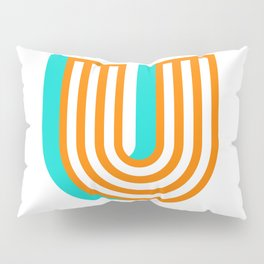 Letter U Pillow Sham