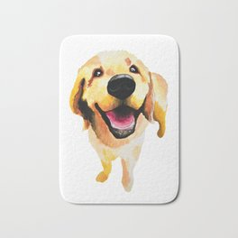 Good Boy / Yellow Labrador Retriever dog art Bath Mat