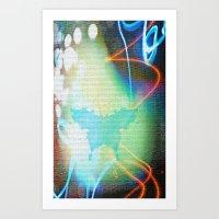 rorschach Art Prints featuring Rorschach by Cullen Rawlins