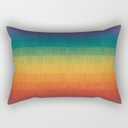 Colorful Grunge Texture Pattern Seamless Abstract Rainbow Multi Colored Illustration Rectangular Pillow