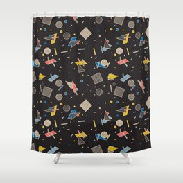 Memphis Inspired Pattern 10 Shower Curtain