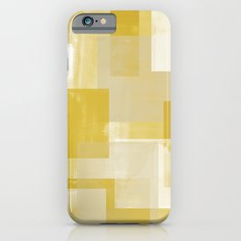 Modern Abstract No. 19 | Citron iPhone Case