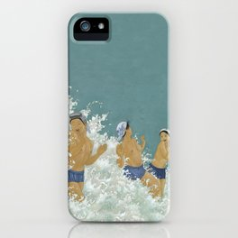 Three Ama Enveloped In A Crashing Wave iPhone Case
