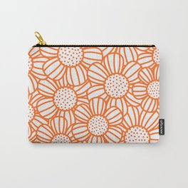 Field of daisies - orange Carry-All Pouch