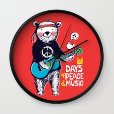 Days Of Peace & Music Wall Clock