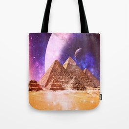 Galaxy Pyramids Tote Bag