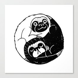 The Tao of Sloths Canvas Print