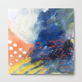 From my painting pallet series Metal Print