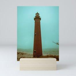 Little Sable Point Lighthouse Beach Brick Light Tower Lake Michigan Mini Art Print