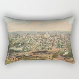 Vintage Pictorial Map of Columbus OH (1867) Rectangular Pillow