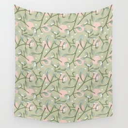 Mistletoes n' Dots Wall Tapestry