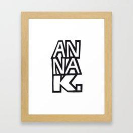 Anna K. Framed Art Print
