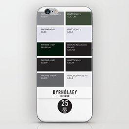 PANTONE glossary - Iceland - Dyrhólaey iPhone Skin