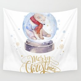 Christmas bear #1 Wall Tapestry