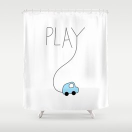 Play...Car Shower Curtain