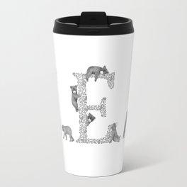 Bearfabet Letter E Travel Mug