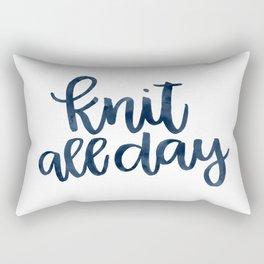 Knit All Day - Navy Rectangular Pillow