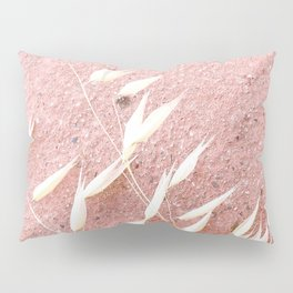 Blush Pink Plant Pillow Sham