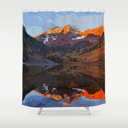 The Wonderful Maroon Bells in Autumn Shower Curtain
