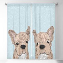 Beige Frenchie Puppy 001 Blackout Curtain