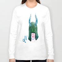 capricorn Long Sleeve T-shirts featuring Capricorn by Aloke Design