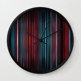Red and blue stripes pattern Wall Clock