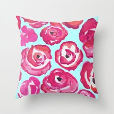 Rose Blooms Throw Pillow