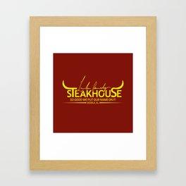 Lawler Family Steakhouse Framed Art Print