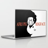 scarface Laptop & iPad Skins featuring Hogface by Afro Pig