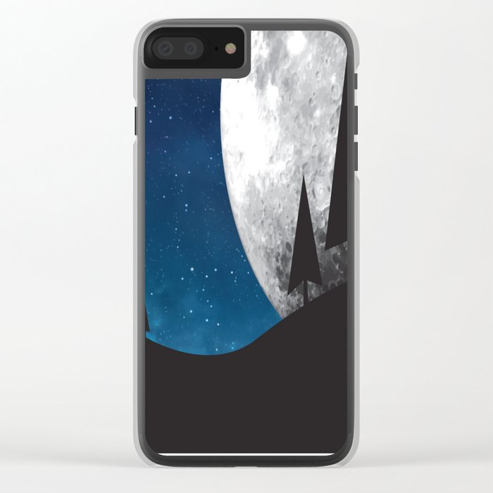 Moonlight Silhouette Clear iPhone Case
