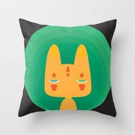 Little Fox [Black Ver.] Throw Pillow