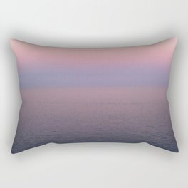 Endless pink horizon at sunset on the Amalfi Coast Rectangular Pillow