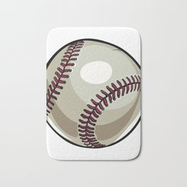 Cartoon Baseball Clipart Bath Mat