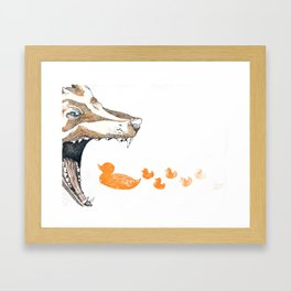 Fox vs. Duck Framed Art Print