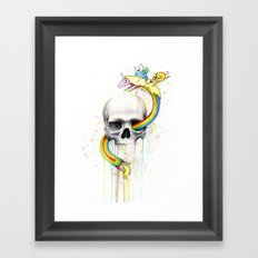 Adventure through Time and Face Framed Art Print