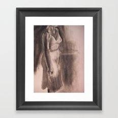 One White Dress Framed Art Print