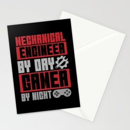 Mechanical Engineer Gamer Games Gift Stationery Cards