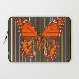 OLD WORN DESICCATED BUTTERFLY PATTERN ART Laptop Sleeve