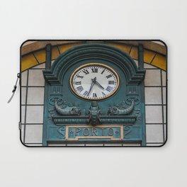 "Train Station Clock. ""São Bento"" Train Station in Porto, Portugal Laptop Sleeve"