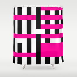 Licorice Bytes, No.18 in Black and Pink Shower Curtain