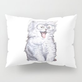 A cat with glasses Pillow Sham