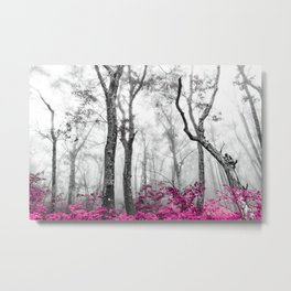 Princess Pink Forest Garden Metal Print