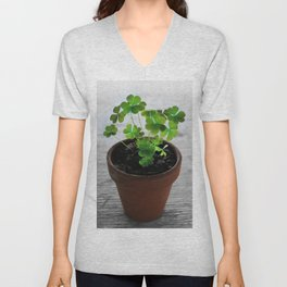 Shamrocks Unisex V-Neck