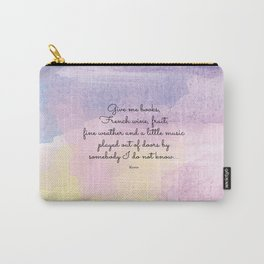 Give me books, French wine - Keats Carry-All Pouch