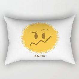 frazzled emoji #society6 Rectangular Pillow
