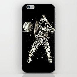 Space Baseball Astronaut iPhone Skin
