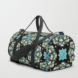 Folkloric Lily Medallion Duffle Bag