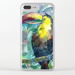 TOUCAN, watercolor illustration (nature) Clear iPhone Case