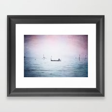 The Lonely Man and The Infinite Sea Color Version Framed Art Print