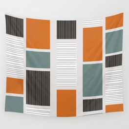 Mid Century Modern Panels Wall Tapestry